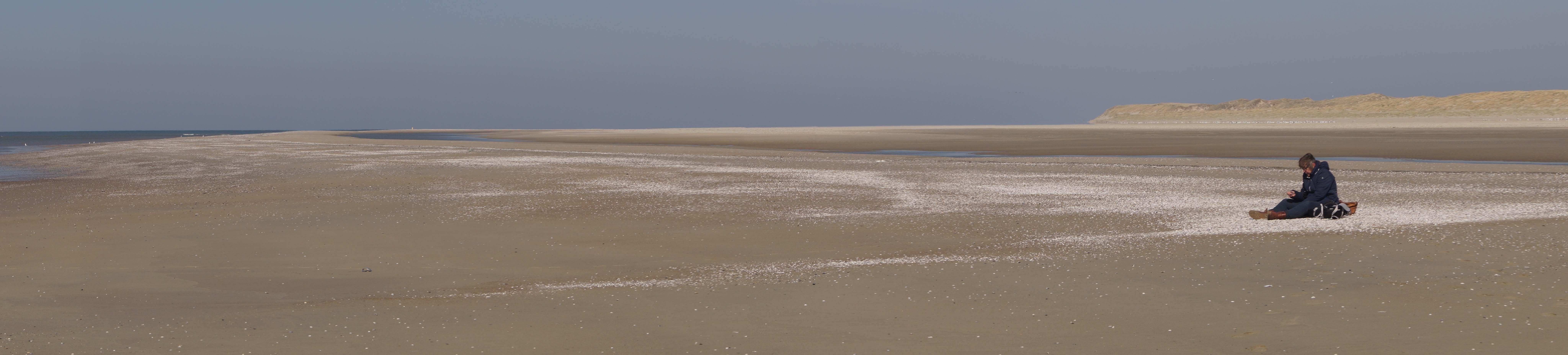 Het strand bij de Hors in april 2020