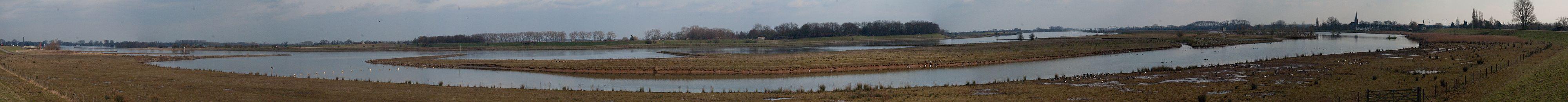 De rivier de Lek bij Everdingen